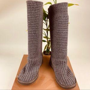 Ugg Australia Boots-  Knit-Grey- Size 6.